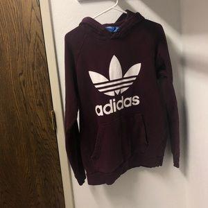 Soft Men's Medium Maroon Adidas Hoodie